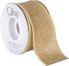 "Berwick Offray 1.5"" Wide Craft Burlap Ribbon, Natural Brown, 3 Yards"