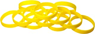 TheAwristocrat 1 Dozen Multi-Pack Blank Wristbands Bracelets Silicone Rubber - Select from a Variety of Colors