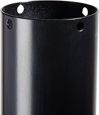 Architectural Mailboxes 7516B-10 Pacifica In-Ground Steel Mailbox Post, One Size, Black