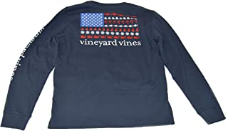 Vineyard Vines Girl's Long Sleeve Graphic Pocket Tee