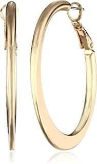 Kenneth Cole New York Edge Hoop Earrings