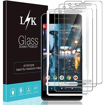[3Pack]LϟK ScreenProtectorforGoogle Pixel 2,[EasyInstallationTray]Tempered-Glass9HHardness,CaseFriendly