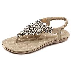 8940fab528f4a DolphinBanana Women Beach Wear Flat Sandals Glitter Shoes Cru .