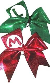 Cheer bows Set of 2 Mario Bros Hair Bows