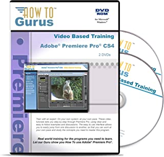 Adobe Premiere Premiere Pro CS4 Tutorial Training on 2 DVDs, 13 Hours in 152 Computer Software Video Lessons