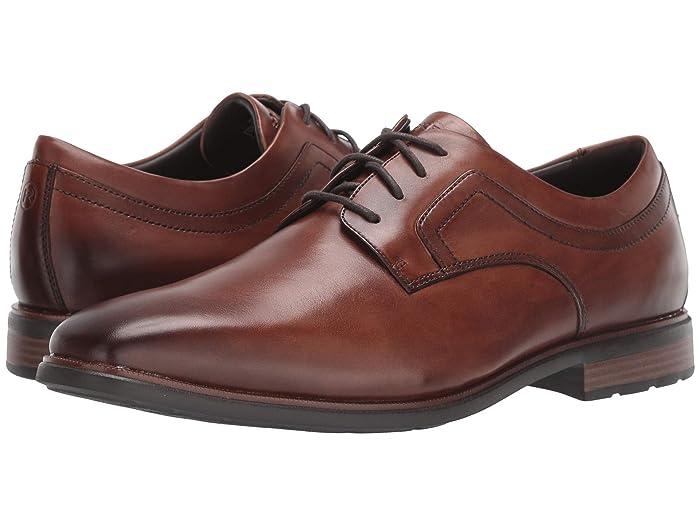 Rockport  DresSports Business 2 Plain Toe (Cognac Antique) Mens Shoes