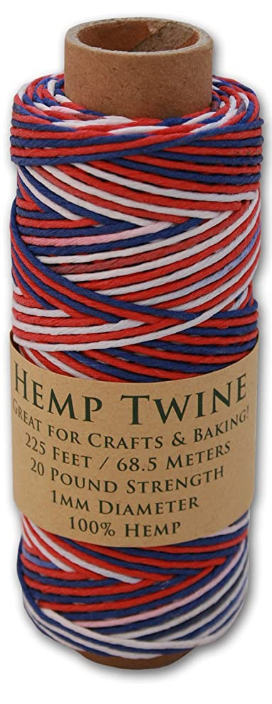 225 Foot Spool of 1mm 100% Hemp Twine Bead Cord in Your Choice of Color (USA)