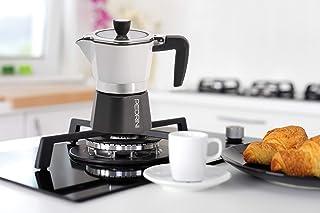 ماكينة صنع القهوة الومنيوم من بيدريني، 2 كوب - اسود وابيض
