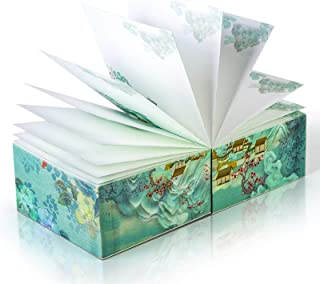 Summer Palace Premium Summer Palace Royal Life Brick Notes 80g Ivory White Paper Sticky Notes Silk Screen Printing, Silver...