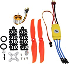 abcGoodefg RC 2200KV Brushless Motor 2212-6+ with 30A ESC Set + Free Mount Accessories Kit Mount for RC Plane Quadcopter Helicopter Aircraft