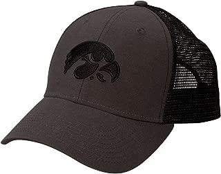 NCAA Iowa Hawkeyes Adult Unisex Industrial Canvas Mesh Cap  Adjustable Size