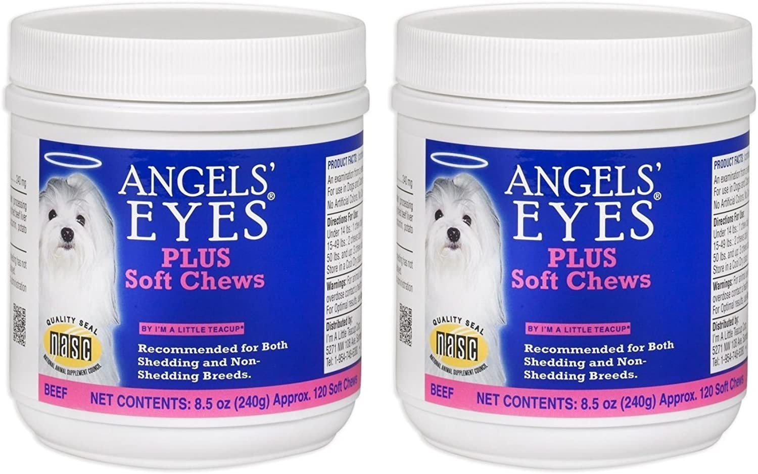 Angel's Eyes AENSC120PLBF 120 Counts Plus Soft Chews for Dogs (2Pack)