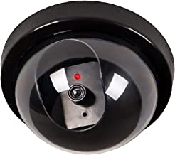 WALI Dummy Fake Security CCTV Dome Camera with Flashing Red LED Light With Security Alert..