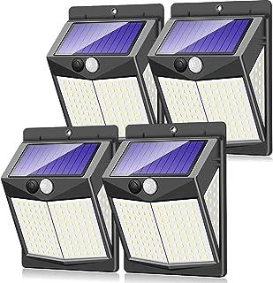 Claoner 【140 LED/3 Modes】 Solar Lights Outdoor, Wireless Solar Motion Sensor Security Light Solar Powered Lights [2000mAh]...