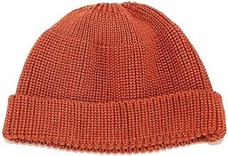FYXKGLa Winter Solid Color Retro Dome Wool Hat Casual Knit Hat Warm Melon Cap (Color : Orange, Size : 56-58cm)