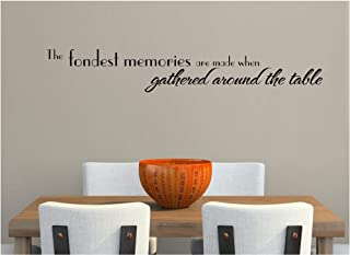 The Fondest Memories are Made When Gathered Around The Table Wall Decal