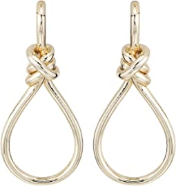 LAUREN Ralph Lauren - Classic Metal Knots & Teardrop Statement Earrings