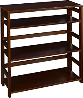 Regency Flip Flop 34-inch High Folding Bookcase- Mocha Walnut