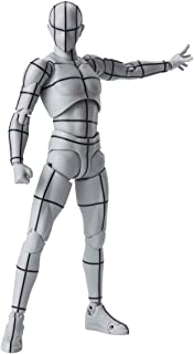 S.H.フィギュアーツ ボディくん -ワイヤーフレーム-(Gray Color Ver.) 約150mm PVC&ABS製 塗装済み可動フィギュア