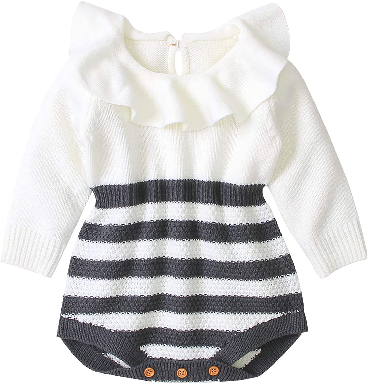 FOYUN Newborn Toddler Baby Girls Princess Knitted Sweater Romper