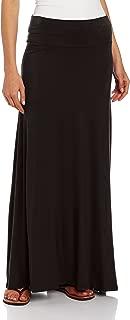 AGB - Falda Maxi de Punto Suave para Mujer (Tallas estándar y pétalos)