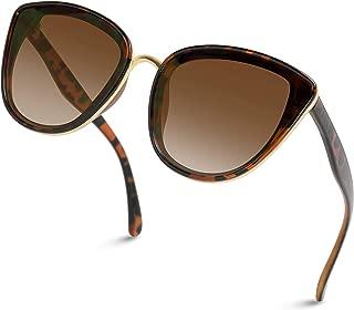 Women Full Lens Elegant Mirrored Lens Cat Eye Sunglasses