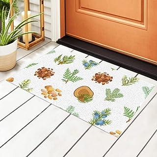 ALALAL Indoor Doormat Coniferous Pine Wood Resin Pattern Non Slip Entrance Rug,Welcome Front Door Mat for Kitchen, Bathroo...