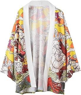 Xlala T Shirt for Men's Dragon Fish Cloud Print Pattern Personality Novelty Lovers Clothing Loose Casual Short Sleeve Vacation Kimono Top