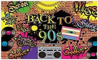 Allenjoy 150 x 90 cm Hintergrund Retro Radio Hip Hop Musik Graffiti Brick Wall Fotografie Hintergrund für 90er Jahre Geburtstag Event Party Decor Banner Portrait Foto Studio Booth Requisiten