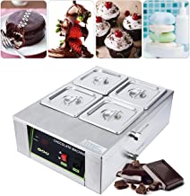 BEAMNOVA Chocolate Melting Machine Pot 4 Tank For Candy Making Electric Commercial Melter 17.64lbs Capacity Chocolate Heating Machine Heater