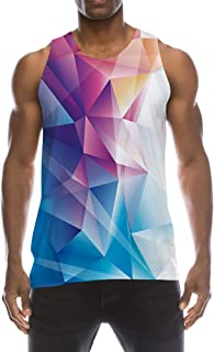 fb8e116b64176 TUONROAD Mens 3D Graphic Printed Tank Top Cool Muscle Sleeveless Tees Gym  Workout Shirt