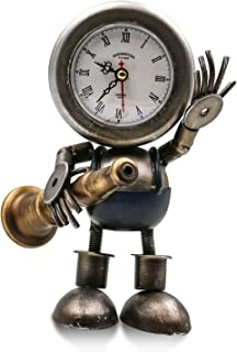 Metal Cool Robot Desk Shelf Clocks,Silent Non-Ticking...