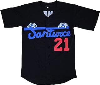 Santurce Crabbers #21 Roberto Clemente Puerto Rico Baseball Jersey White