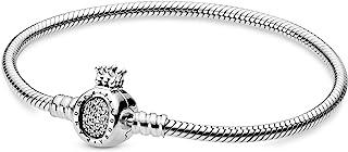 Pandora Jewelry Crown O Clasp Cubic Zirconia Bracelet in Sterling Silver