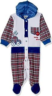 Baby Shoora Long Sleeves Snap-Closure Hooded Plaid Bodysuit for Kids - Multi Color, 3-6 Months