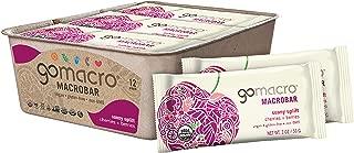 GoMacro MacroBar Organic Vegan Snack Bars Cherries + Berries 2 Ounce Bars (Pack of 12)