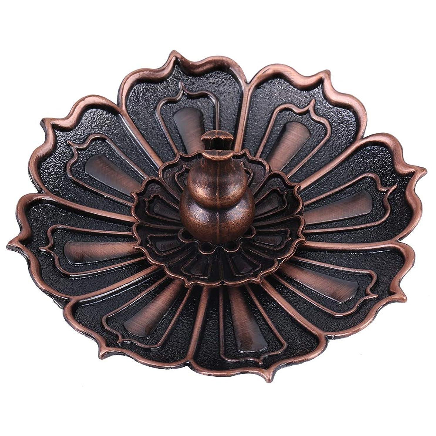 シェード好奇心外交蓮の花の形の香ホルダー - 線香炉 香立て お香用具 お線香用可 アロマ香炉9×3.5センチメートル