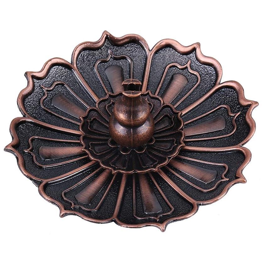 ドナー気配りのあるディスコ蓮の花の形の香ホルダー - 線香炉 香立て お香用具 お線香用可 アロマ香炉9×3.5センチメートル
