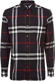 Men's Salwick Flannel Blue Check Cuff Shirt