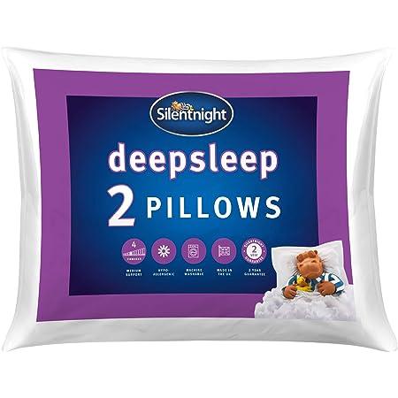 Silentnight Deep Sleep Pillow Pack of 2 - Soft Hotel Bed Pillows 2 Pack Pillow Pair - Machine Washable Hollowfibre Sleep Easy Pillows