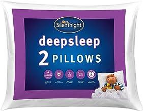 Silentnight Poduszka głęboki sen zestaw 2 – miękkie poduszki do łóżka hotelowego 2-pak poduszka para – można prać w pralce...