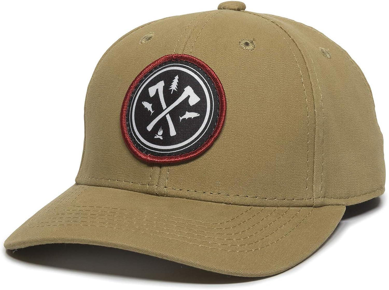 Circle Axe Patch Hat - Adjustable Baseball Cap for Men & Women