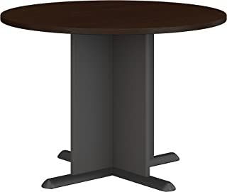 Bush Business Furniture Series A & C 42 Inch Round Conference Table in Mocha Cherry