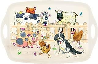 I  Style  My Home - Bandeja con Asas. diseño de Animales de la Granja
