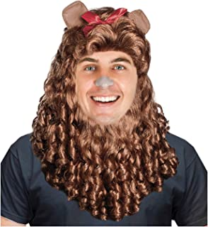 Costume Adventure Lion Costume Wig and Mane Set - One Size