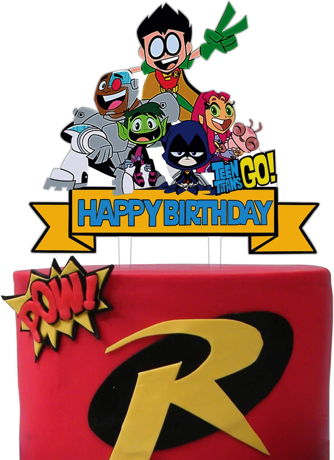 Teen Boys Girls Gamer Bday Party Favor Sandbox Game Themed Birthday Party Supplies Acrylic Block Game Happy Birthday Cake Topper Video Gaming Party Cake Topper