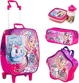 Kit Mochila Infantil Bau Barbie Aventura Sestini Lancheira Estojo