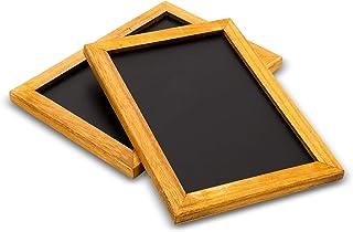 Blue Panda Chalkboard Menu Sign 2 Pack - Vintage menu Sign 10 x 7 inches