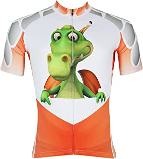 ILPALADINO Men's Cycling Jersey Short Sleeve Biking Shirts Cartoon Animals