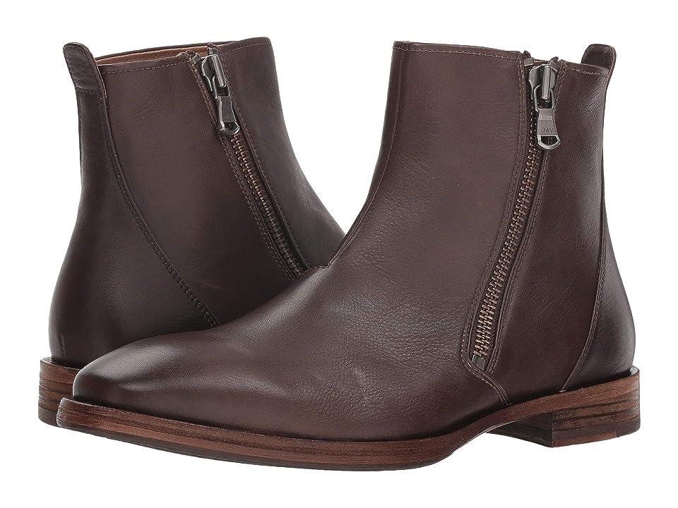 John Varvatos Mitchell Zip Boot (Wood Brown) Men